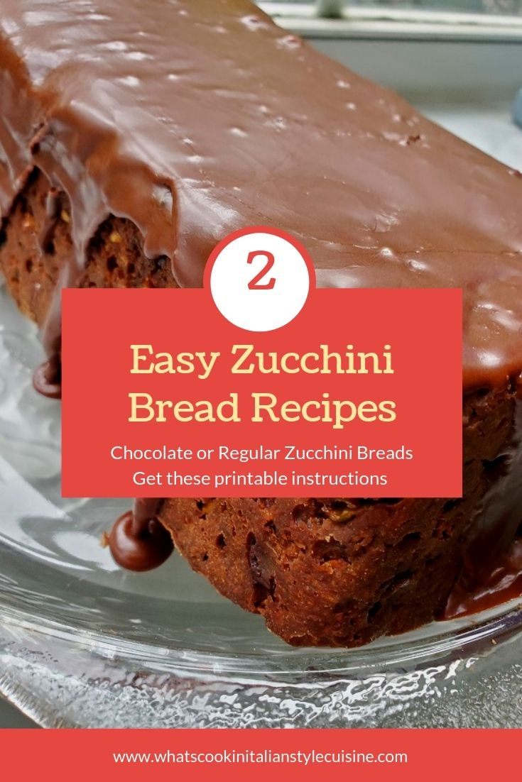 this is a pin for a chocolate zucchini bread