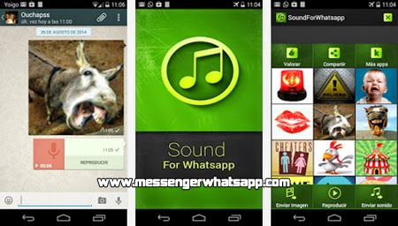 Comparte sonidos con Whatsapp sound and voice