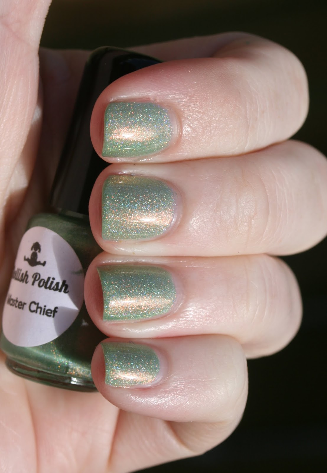 Dollish Polish Master Chief swatch