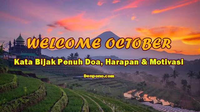 Kata Bijak Awal Bulan Oktober Penuh Doa, Harapan dan Motivasi