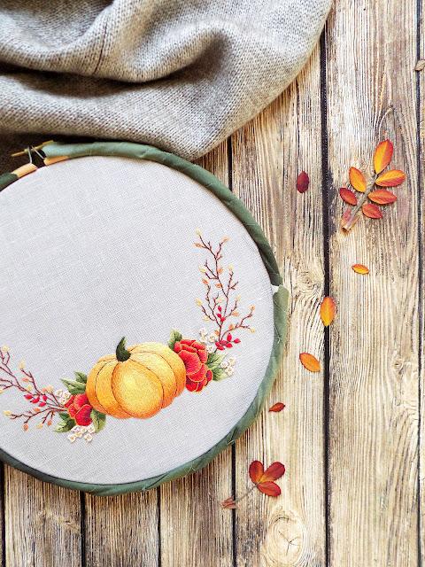 Pumpkin hand embroidery tutorial