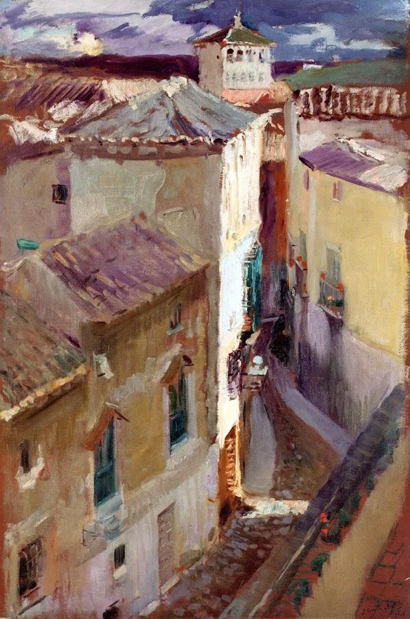 Una calle de Toledo, Joaquín Sorolla y Bastida, Joaquín Sorolla, Paisajes de Joaquín Sorolla, Impresionismo Valenciano, Joaquín Sorolla Bastida, Toledo