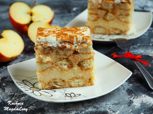 Ciasto bez pieczenia z budyniem jabłkowym