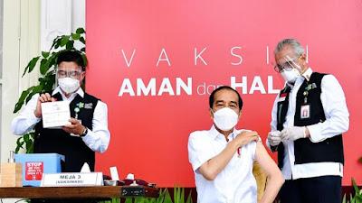 Inilah Daftar Penerima Vaksin Covid Perdana Bersama Presiden Jokowi, Ada Raffi Ahmad