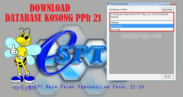 Download Database Kosong eSPT PPh 21