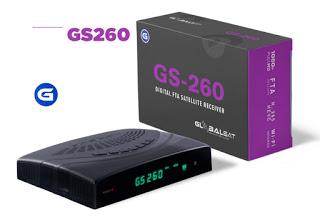 GLOBALSAT GS 260 NOVA ATUALIZAÇÃO V1.60
