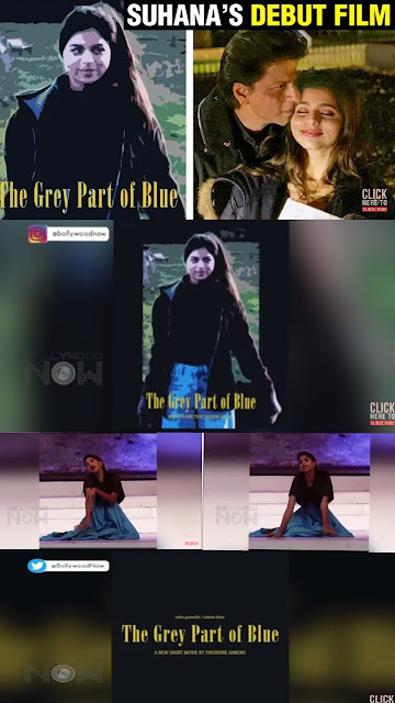 Suhana Khan' FIRST FILM Poster Look Out | The Grey Part of Blue