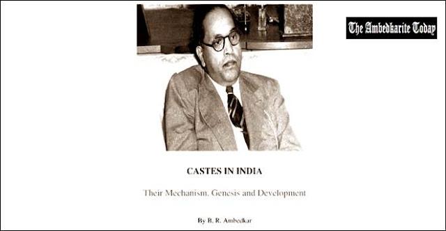 भारत में जातिप्रथा, संरचना, उत्पति और विकास-  भीमराव आम्बेडकर, caste System