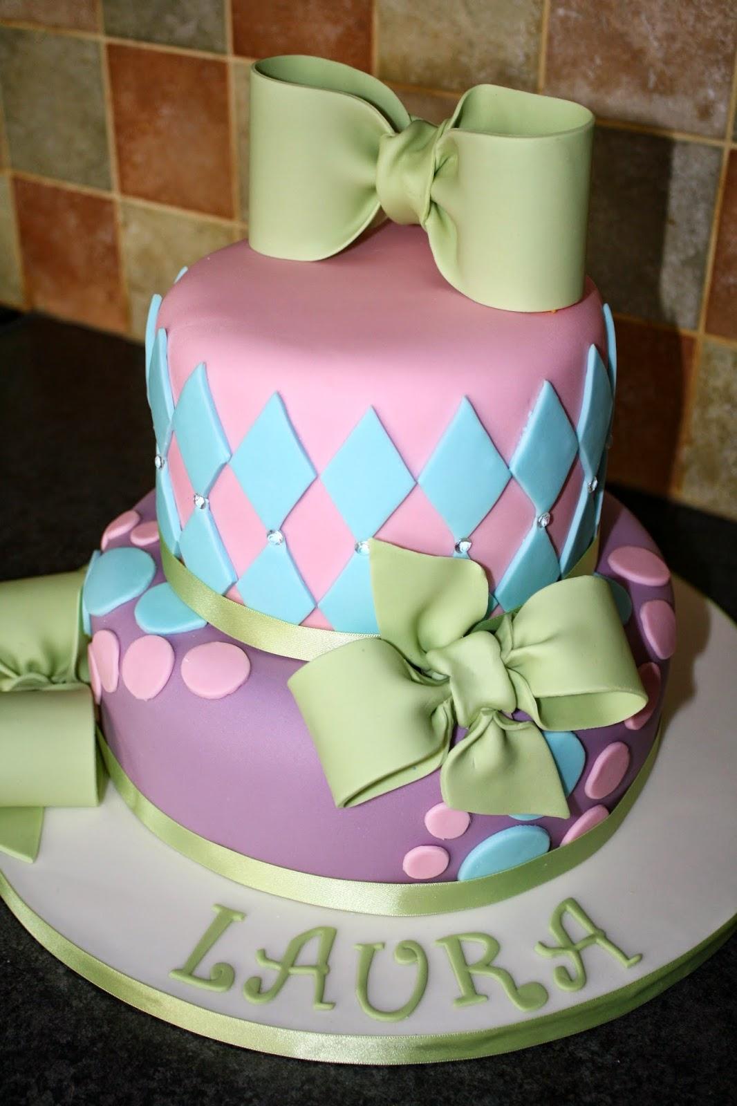Tallulah S Bakery A Pretty Pastel 40th Birthday Cake