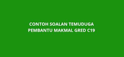 Contoh Soalan Temuduga Pembantu Makmal C19