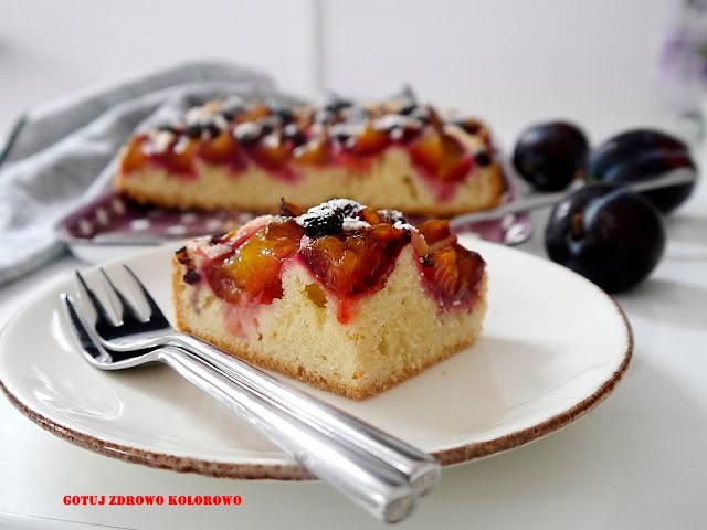 Proste ciasto ze śliwkami i aronią - Czytaj więcej »