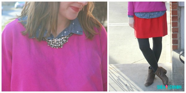 outfit idea for mixing red and pink | www.shealennon.com