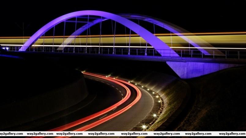 Blue bridge wallpaper