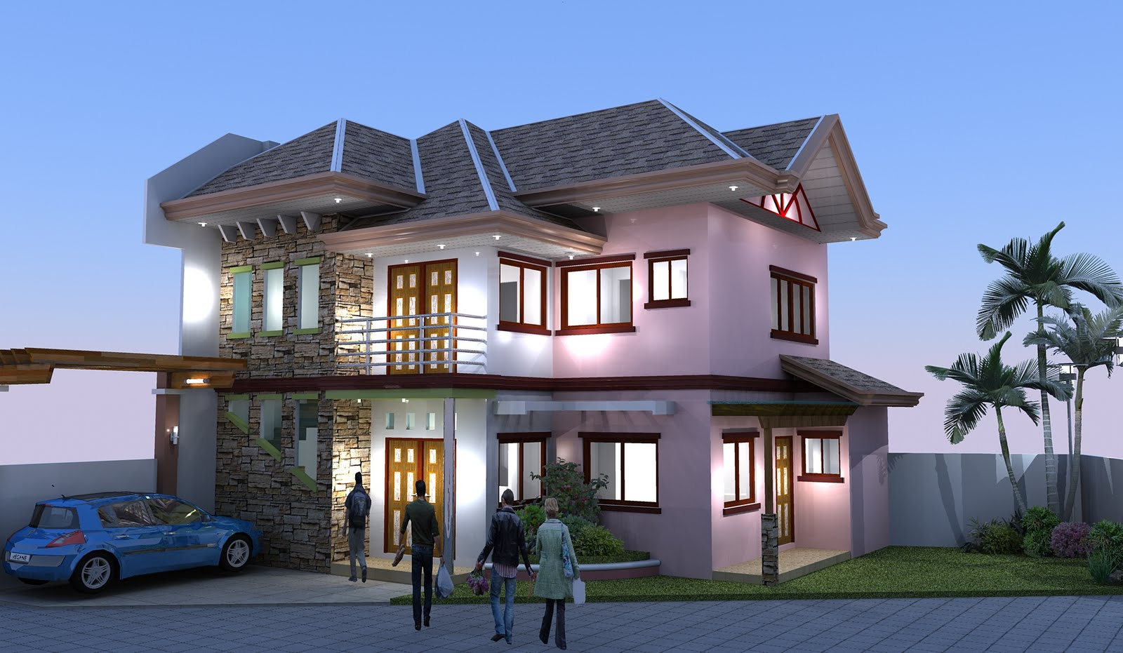 Adc Drafting*design*render Two Storey Residential Building
