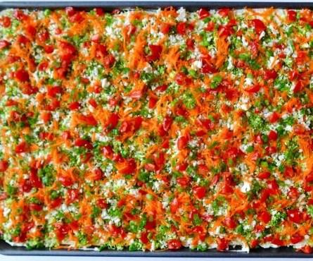 Crescent Roll Veggie Bars #vegetarian #appetizers