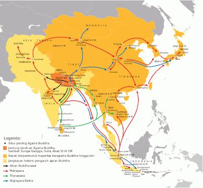 Penyebaran ajaran Buddha dari India