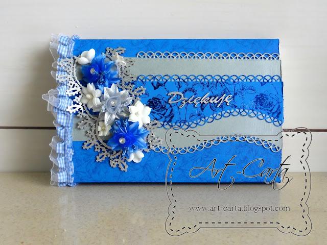 Niebiesko – srebrne podziękowania
