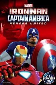Poster do filme Homem de Ferro e Capitão América - super-heróis unidos