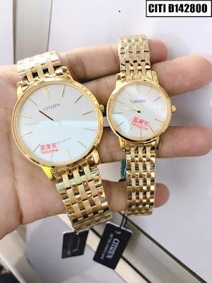 Đồng hồ cặp đôi màu vàng Citizen Citi Đ142800