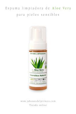 Espuma Limpiadora de Aloe Vera para Pieles Sensibles