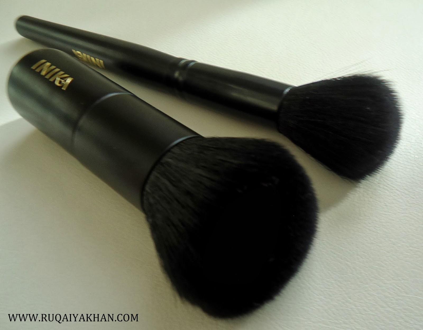 Ruqaiya Khan: Vegan Makeup Brushes by Inika Blush and Kabuki Brush