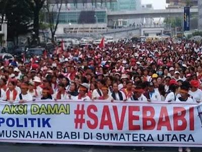 Demo Save Babi : Kami makan dari babi. Anak kami kuliah dari babi!