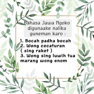 Bahasa Jawa Ngoko Lugu Digunakan Untuk Siapa Saja