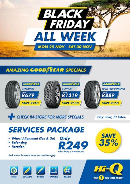 Hi-Q Black Friday tyres deals