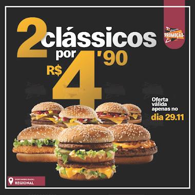 MÉQUI FRIDAY – 2 clássicos McDonalds por R$4,90