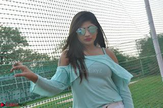 Madhulagna Das looks super cute in White Shorts and Transparent Top 27.JPG