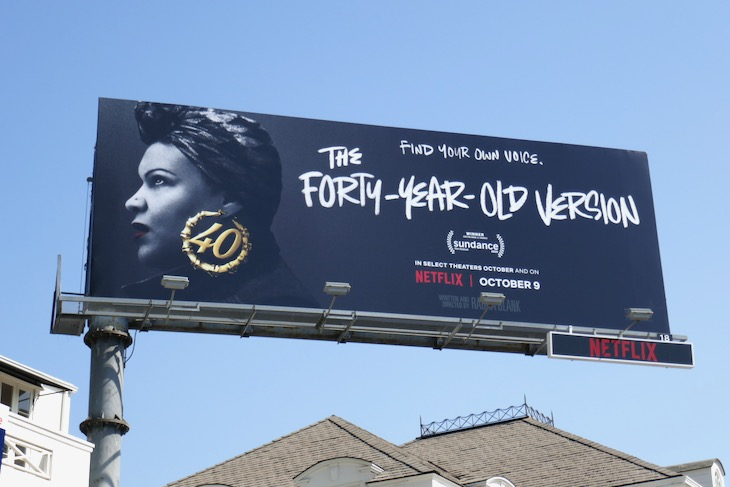 Forty Year Old Version film billboard