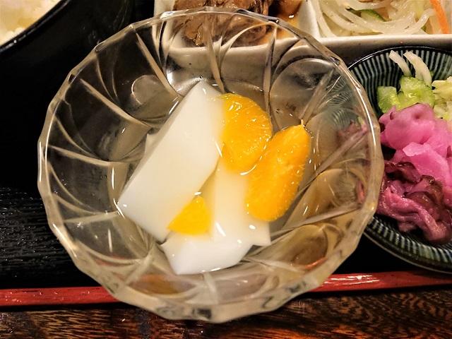 おかやま食堂 ランチ定食 杏仁豆腐