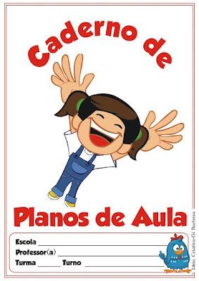 Planos de aula-Capas para Caderno com personagens infantis