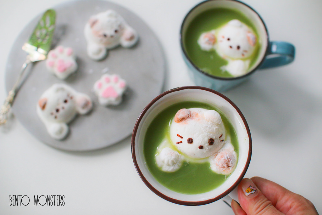 15-Cat-Marshmallow-Li-Ming-Lee-Kyaraben-Bento-Monsters-Themed-Lunch-Art-www-designstack-co