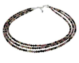 Turmalin – kolorowe kulki w srebrze