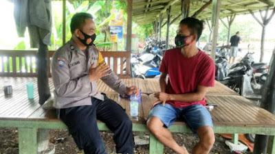 Polres Karawang, Kamtibmas Polsek Klari Sosialisasi Tentang Penyakit Covid19
