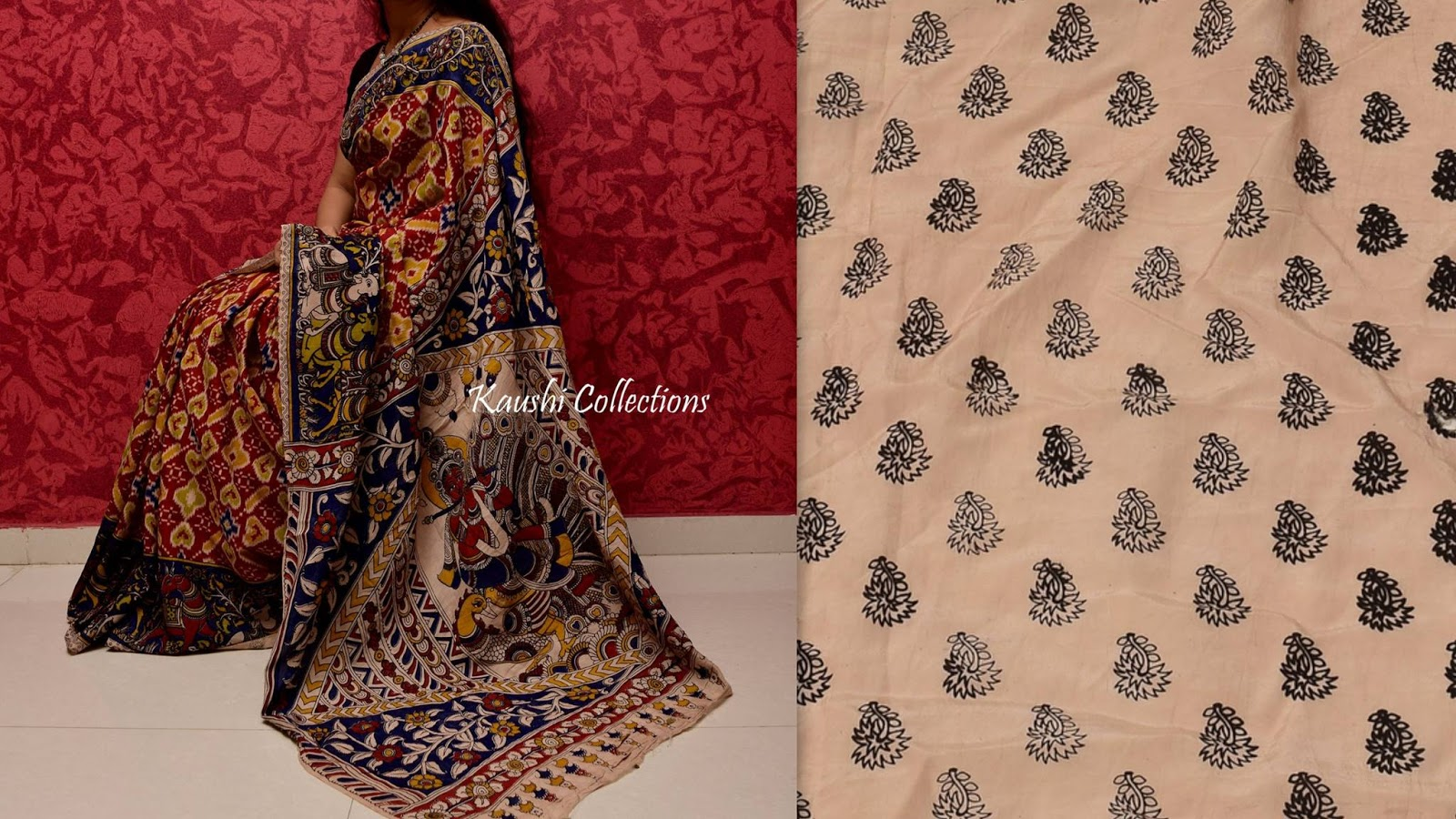 eed9a76b0fa752 Kalamkari sarees online shopping with best prices | Sparkling Fashion