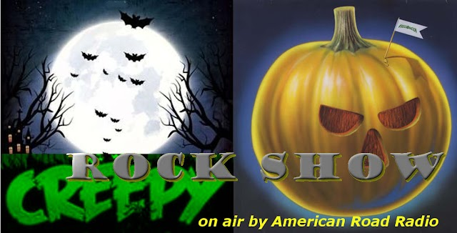 Music : Halloween Creepy Rock Show on air by  American Road Radio !