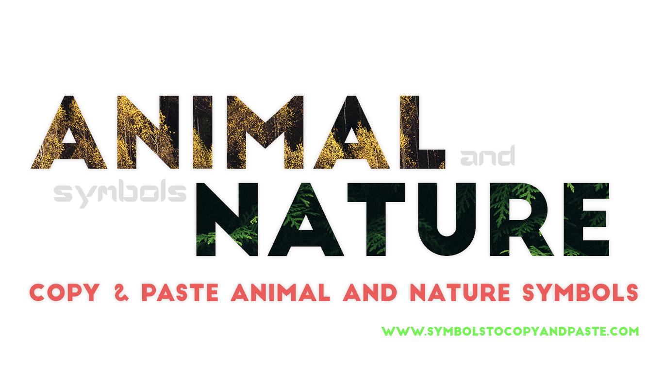 Animal & Nature Symbols - Copy Online 🐯 Animal 🌾 Nature Symbols