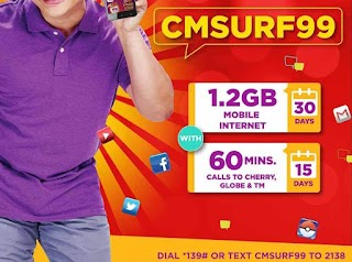 Cherry Mobile Prepaid CMSURF99 now with 1.2GB Data for 30 Days