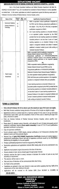 services-hospital-lahore-jobs-2021-advertisement-application-form