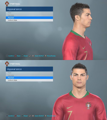 PES 2019 Faces Cristiano Ronalod 2012 by LR7_Face