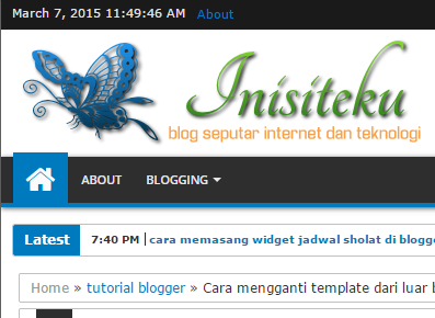cara mengganti judul blog dengan logo pada bagian header