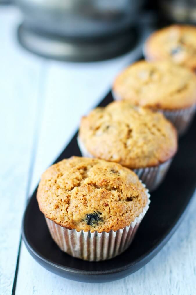 Breakfast muffins with dried fruit