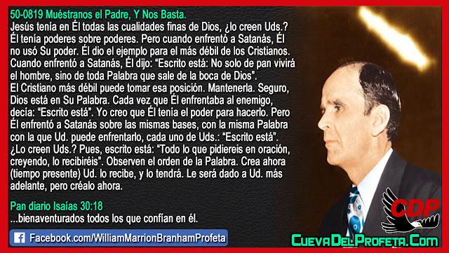 Para el Cristiano más débil - Citas William Branham Mensajes