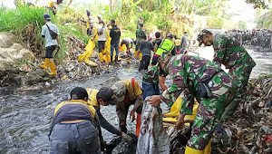 Satgas Sektor 22 Sub 06, Masifkan Kolaborasi Pada Pbersihan Sungai Cikendal
