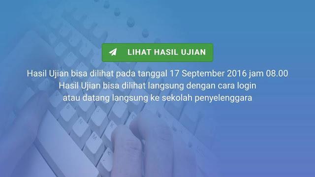 Pengumuman Hasil Ujian Nasional Perbaikan (UNP) 2016