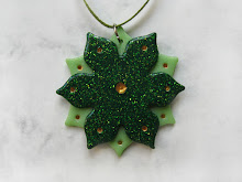 Christmas Flower polymer clay Christmas decoration