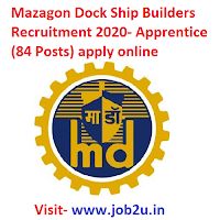 Mazagon Dock Ship Builders Recruitment 2020, Apprentice