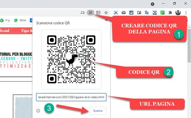 codice qr di una pagina web